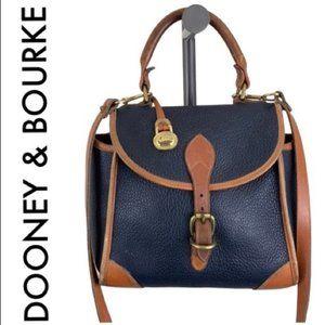 DOONEY & BOURKE LEATHER BROWN BLACK CROSSBODY BAG